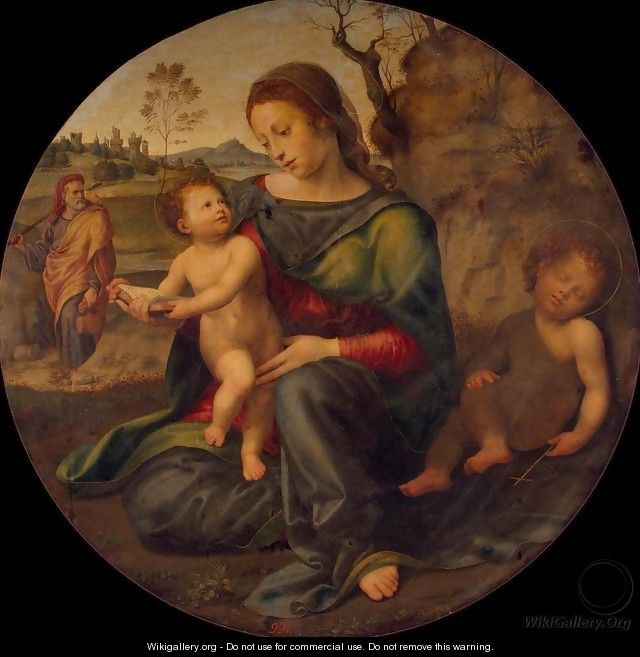 Holy Family with St John the Baptist - Giuliano Bugiardini