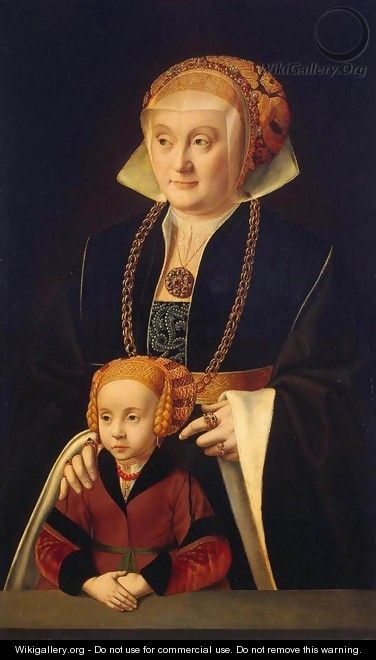 Portrait of a Woman with her Daughter - Barthel Bruyn