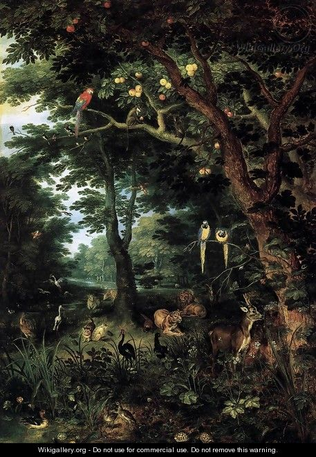 Paradise - Jan, the Younger Brueghel