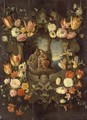 Holy Family Framed with Flowers - Jan, the Younger Brueghel