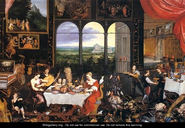 The Senses of Hearing, Touch and Taste - Jan The Elder Brueghel