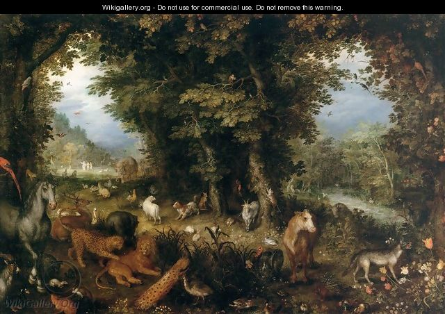 Earth (The Earthly Paradise) - Jan The Elder Brueghel