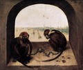 Two Chained Monkeys 2 - Pieter the Elder Bruegel