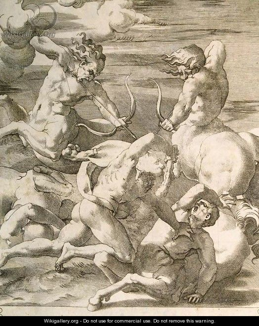 Battle between Hercules and Centaurs - Giovanni Jacopo Caraglio