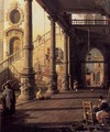 Perspective View with Portico (detail) - (Giovanni Antonio Canal) Canaletto