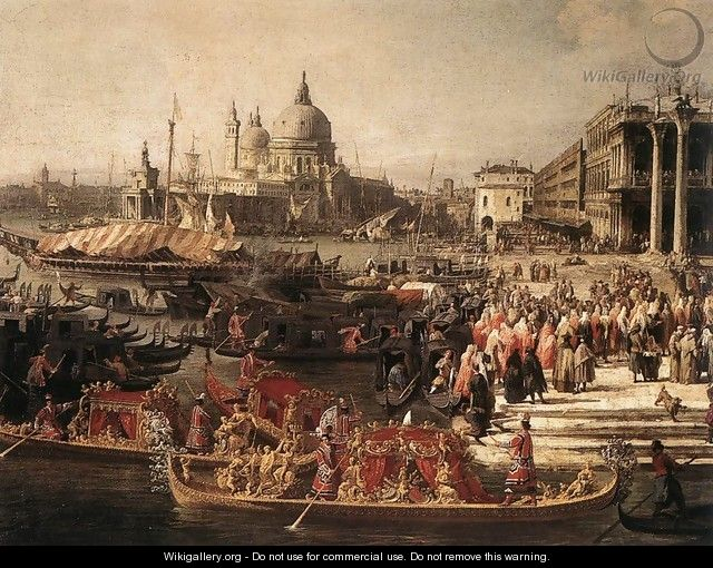 Arrival of the French Ambassador in Venice (detail) - (Giovanni Antonio Canal) Canaletto