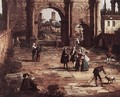 Rome The Arch of Constantine (detail) - (Giovanni Antonio Canal) Canaletto