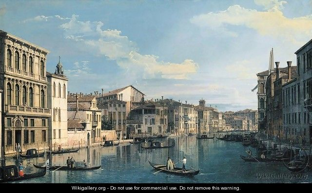 Venice The Grand Canal from Palazzo Flangini to the Church of San Marcuola 2 - (Giovanni Antonio Canal) Canaletto