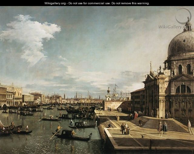 Entrance to the Grand Canal and the Church of La Salute - (Giovanni Antonio Canal) Canaletto