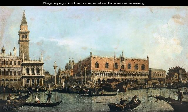 The Molo, Seen from the Bacino di San Marco - (Giovanni Antonio Canal) Canaletto