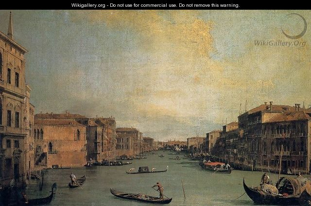 The Grand Canal 2 - (Giovanni Antonio Canal) Canaletto
