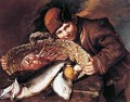 Boy with a Basket of Fish - Giacomo Ceruti (Il Pitocchetto)