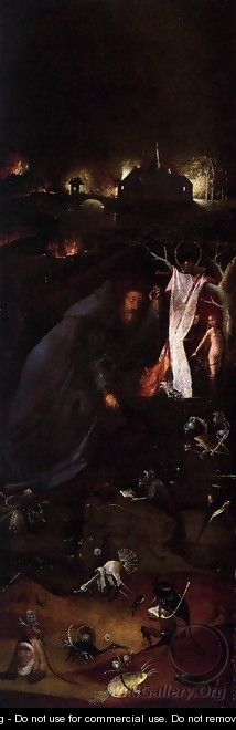 Hermit Saints Triptych (left panel) 2 - Hieronymous Bosch