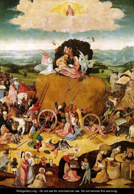 Triptych of Haywain (central panel) 2 - Hieronymous Bosch