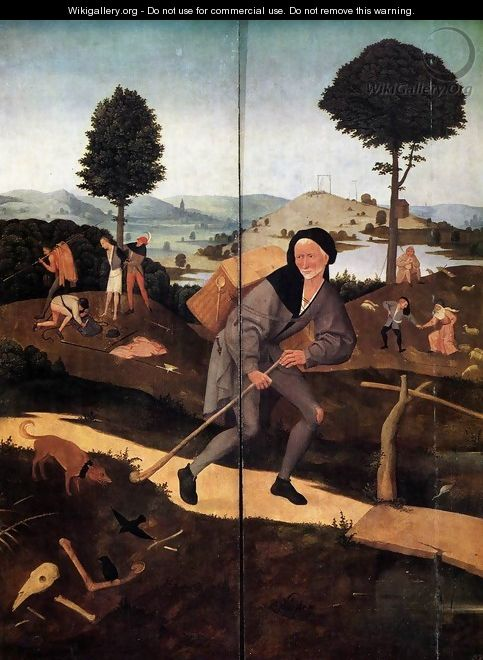 Triptych of Haywain (outer wings) 2 - Hieronymous Bosch