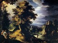 Landscape with Stag Hunt - Paul Bril