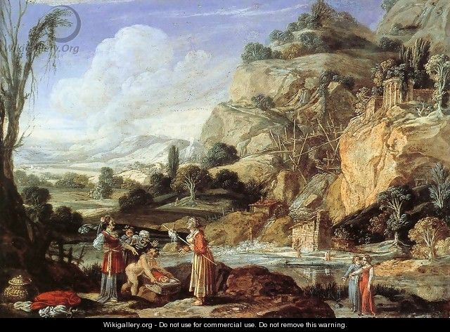 Landscape with the Finding of Moses - Bartholomeus Breenbergh
