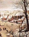 Winter Landscape with Skaters and a Bird Trap (detail) - Pieter the Elder Bruegel