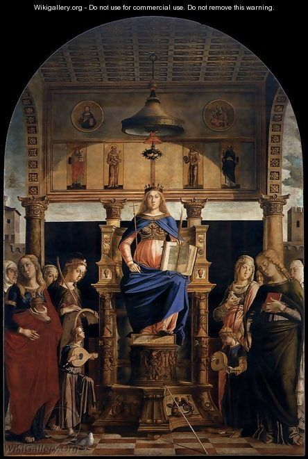 St Veneranda Enthroned - Lazzaro Bastiani
