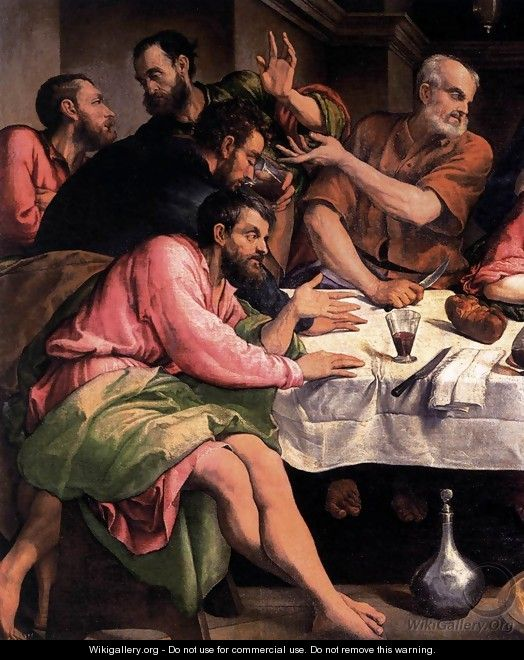 The Last Supper (detail) - Jacopo Bassano (Jacopo da Ponte)