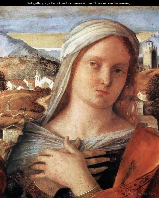 Madonna and Child with St John the Baptist and a Saint (detail) 2 - Giovanni Bellini