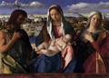 Madonna and Child with St John the Baptist and a Saint - Giovanni Bellini