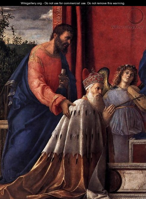 Barbarigo Altarpiece (detail) - Giovanni Bellini