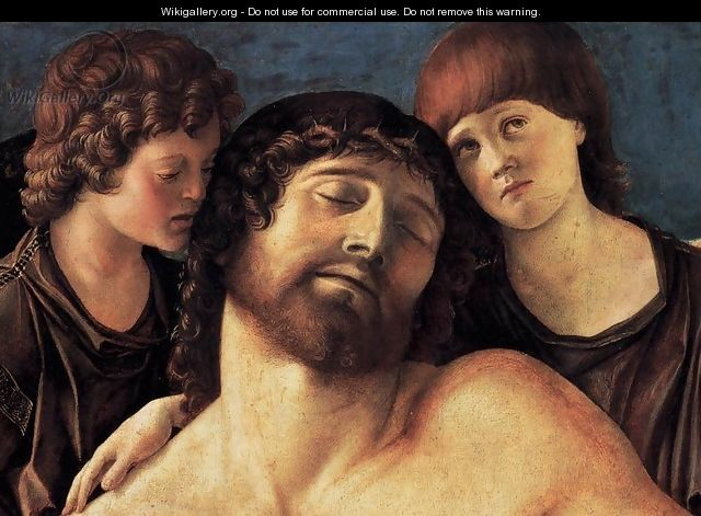 Dead Christ Supported by Two Angels (detail) 2 - Giovanni Bellini