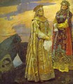 Three Tsarevnas of the Underground Kingdom (detail) - Viktor Vasnetsov