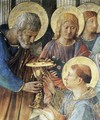 St Peter Consacrates Stephen as Deacon (detail) - Angelico Fra
