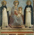 Virgin and Child with Sts Dominic and Thomas Aquinas - Angelico Fra