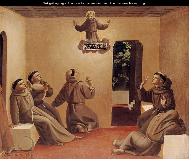 Apparition of St Francis at Arles - Angelico Fra