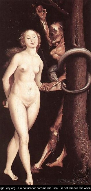 Eve, the Serpent, and Death - Hans Baldung Grien