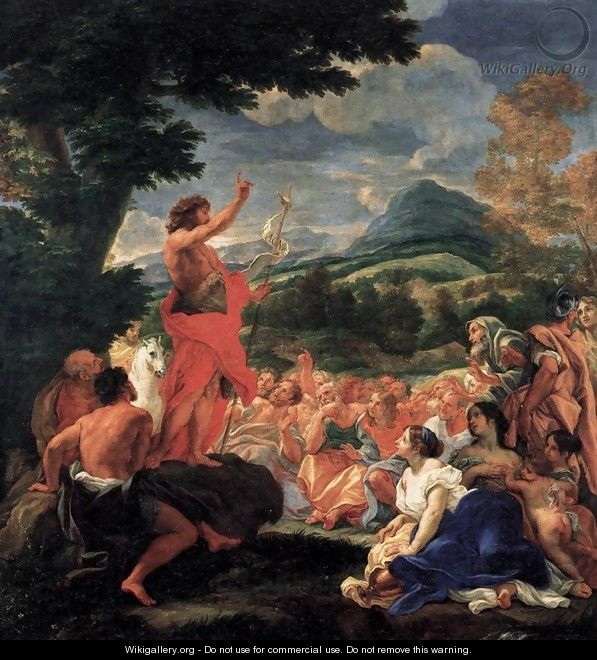 The Preaching of St John the Baptist - Baciccio II