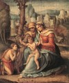 Madonna with Child, St Elisabeth and the Infant St John the Baptist - (circle of) Ubertini, (Bacchiacca)