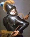 Man in Armour Holding a Pike - Jan Van Bijlert