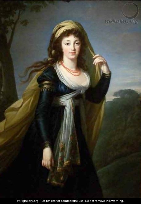 Portrait of Theresa Countess Kinsky - Elisabeth Vigee-Lebrun