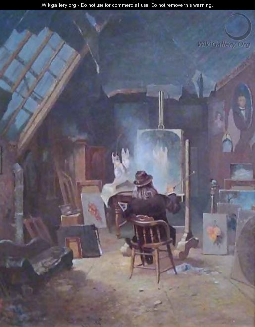 Samuel Marsden Brookes in His Studio - Edwin Deakin