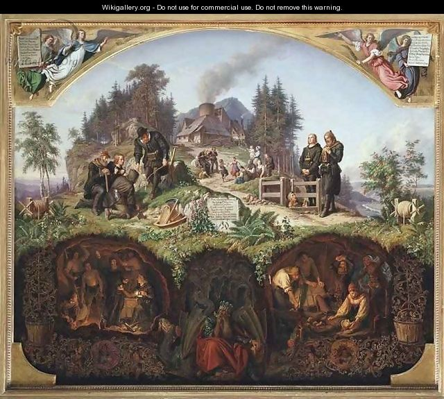 Allegory of the Mines - Theobald Reinhold von Oer
