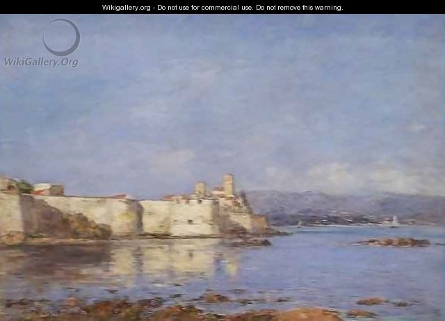The Port of Antibes - Eugène Boudin