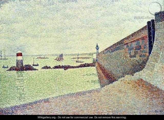 The Pier at Portrieux - Paul Signac