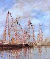 Sailing Ships at Deauville - Eugène Boudin