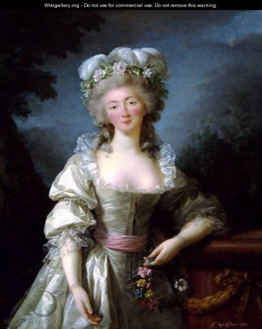 Portrait of Madame du Barry - Elisabeth Vigee-Lebrun