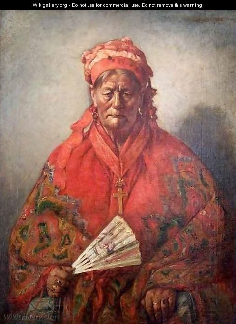 Portrait of Mother Jacoune Dealer of Fruits and Vegetables - Marcellin Desboutin