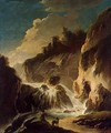 Landscape with a Waterfall - Philipp Peter Roos