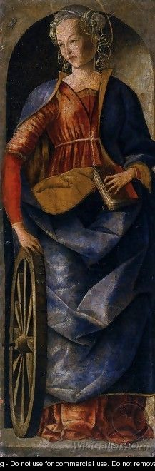 Griffoni Polyptych St Catherine of Alexandria - Ercole de