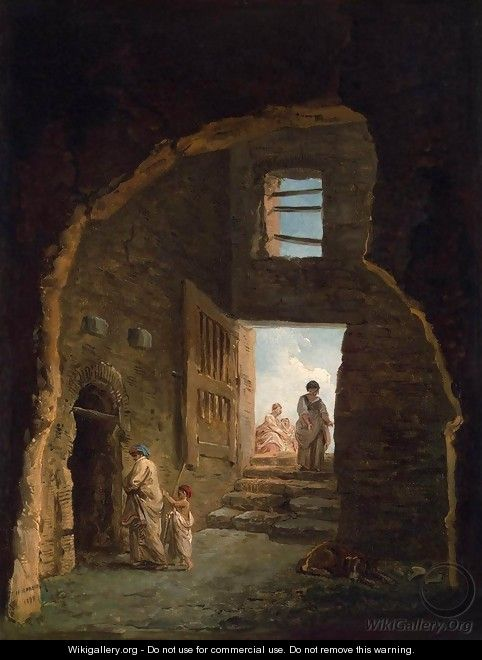 Inhabited Ruins - Hubert Robert