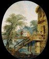 The Footbridge - Hubert Robert