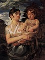 The Artist's Wife and Son - Philipp Otto Runge