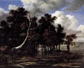 Oaks by a Lake with Waterlilies - Jacob Van Ruisdael